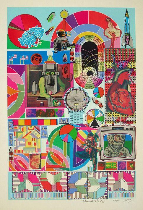 Eduardo Paolozzi print for sale: BASH (blue) 1971