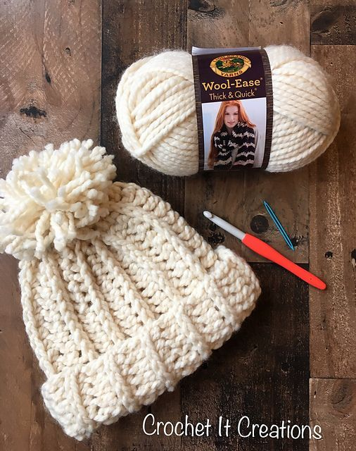 Chunky Snow Hat Free Crochet Pattern | Free Crochet Patterns