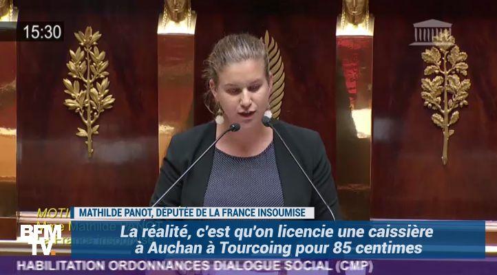 """""""On licencie une caissière à Auchan mais on relaxe Mme Lagarde."""" La colère d'une députée de la France insoumise"""