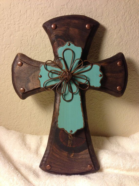 Rustic Decorative Cross by CrossMyHeart2008 on Etsy, $28.00