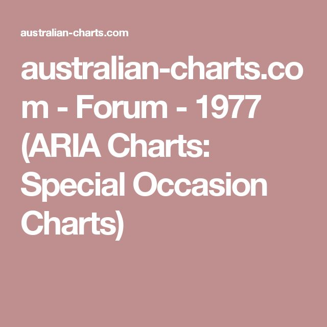 australian-charts.com - Forum - 1977 (ARIA Charts: Special Occasion Charts)