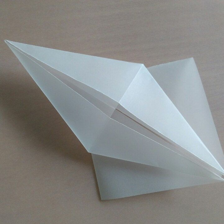 Semi transparent cranes are ready to folding