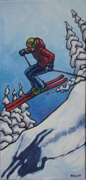 Résultats de recherche d'images pour «peinture de skieur»