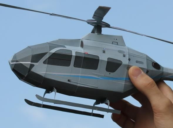 This  is the Helicopter Eurocopter EC 135 , in a beautiful and easy-to-build paper version  created by NurHelis  German website. There are...