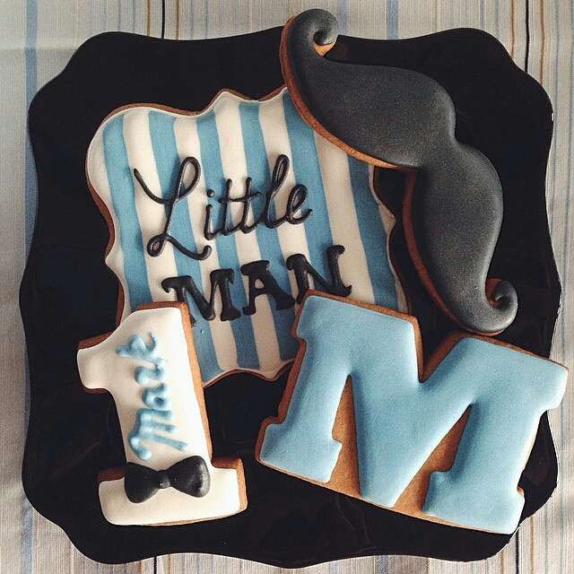 Decorated cookies at a little man mustache birthday party! See more party ideas at CatchMyParty.com!