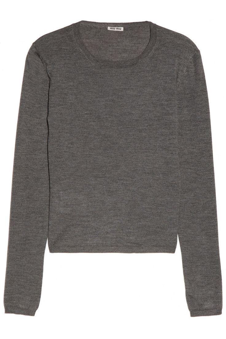Miu Miu | Cashmere and silk-blend sweater | NET-A-PORTER.COM