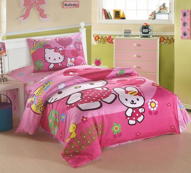 hello kitty bedding cat pattern children bedding set for girls pink  bedspread cartoon character quilt cover cute pillow cases. 46 best Aniyah   Bedroom Accessories And Ideas images on Pinterest