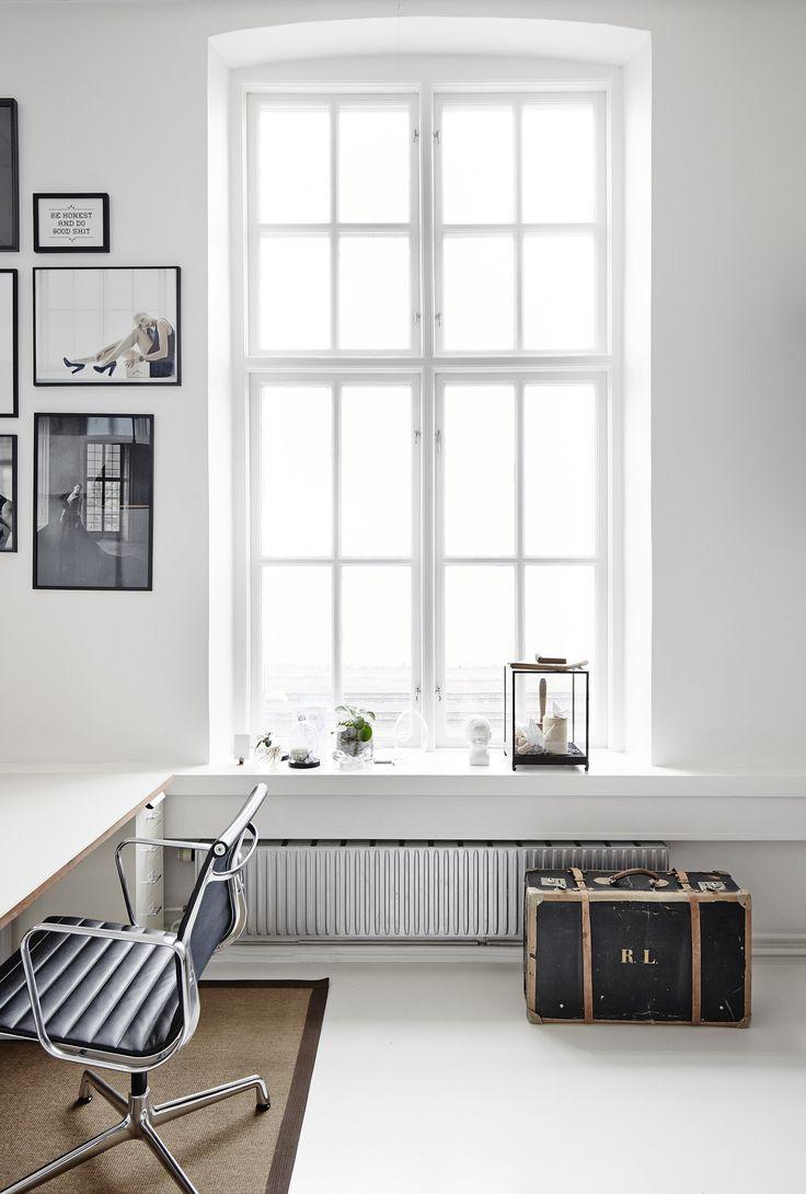 vintage, nórdico, blanco y negro, maleta antigua, estudio, dekoloop