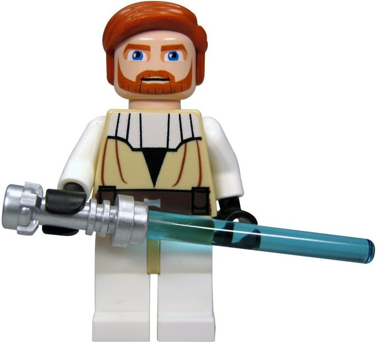 lego star wars figur obi wan kenobi clone wars bausatz 7676 laserschwert l9a. Black Bedroom Furniture Sets. Home Design Ideas