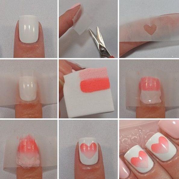 valentine nails tumblr