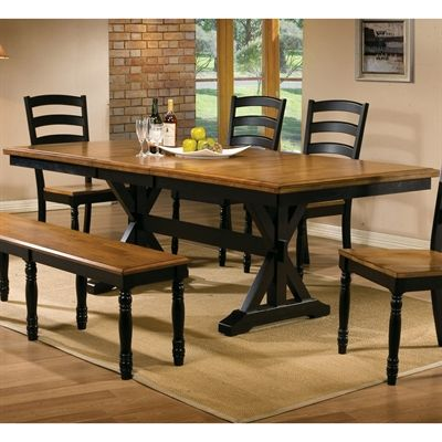Winners Only DQ14284 Quails Run 84 In Trestle Dining Table