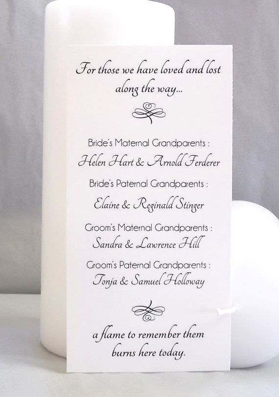 A Flame To Remember Wedding Memorial Candle By Andrewspondcrafts 4 99