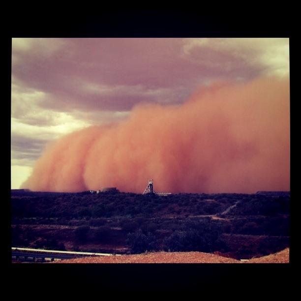 Broken Hill NSW Australia   Dust Storm