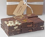 Love these chocolate brownies. Handmade in the #Cotswolds, delivered by courier with next day delivery; by favourite gift to send!  www.bluebasilbrownies.co.uk