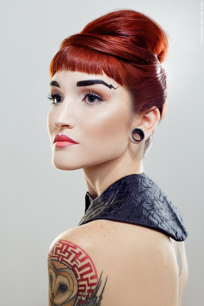 This is a shot from my makeup portfolio. Eyebrows Inspired by Amanda Palmer.