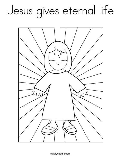 Coloring Pages For Following Jesus. Jesus gives eternal life Coloring Page 48 best Pages images on Pinterest  Colouring pages