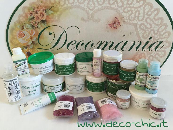 DECOMANIA: vasta gamma di prodotti per il decoupage! Store online www.deco-chic.it