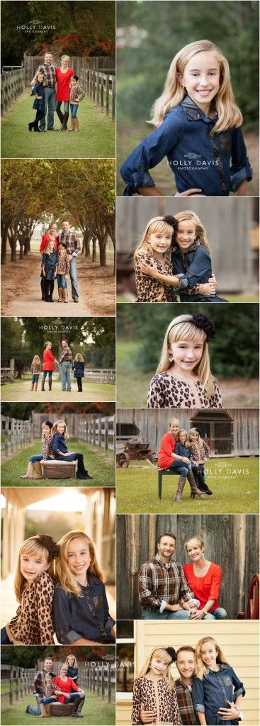 Fall Family Portraits, Family Posing, What to Wear Family Pictures, Golden Hour, Rustic Family Photos  Holly Davis Photography | The Woodlands, TX
