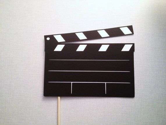 Movie Clap Board Photo Booth Prop on Etsy, $6.00