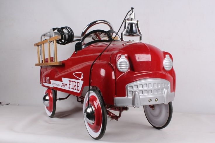 Lot: Fire Truck N. 287 Pedal Car (new), Lot Number: 0012, Starting Bid: $10, Auctioneer: North American Auction Company, Auction: Firearms, Antiques, Sculpture and Chandelier, Date: October 13th, 2013 NZDT