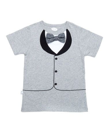 This New Gray Tuxedo Tee - Toddler is perfect! #zulilyfinds