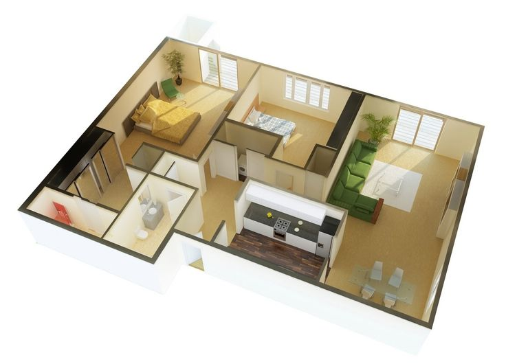 Attractive Free 3D Floor Plan... Free Lay Out Design For Your House Or