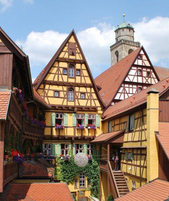 cidades pequenas e charmosas na Alemanha Dinkelsbühl