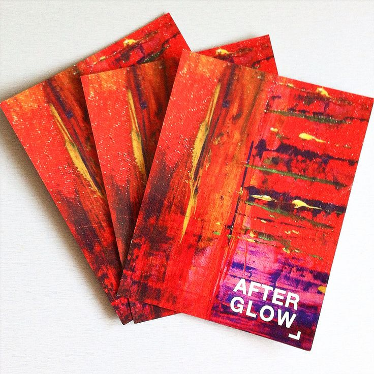 """Postkarte """"afterglow"""" mit einer Detailaufnahme der Leinwandversion  www.art-mg.de"""