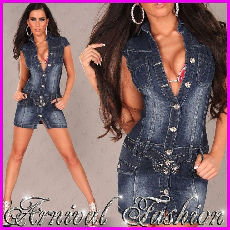 Details About New Sexy Womens Designer Jeans Dress Size 6