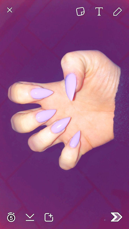 Lilac nails #spring