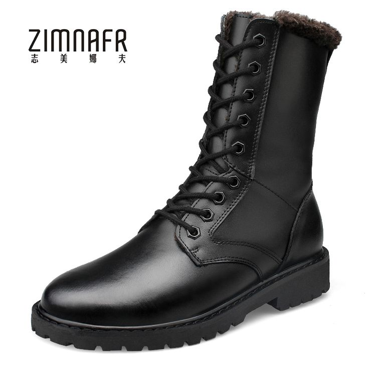 >> Click to Buy << Large Size Winter Bota Masculina Militar Mens Genuine Leather Ankle Tactical Boots Fashion Moto Botas Male Winter Plush Footwear #Affiliate