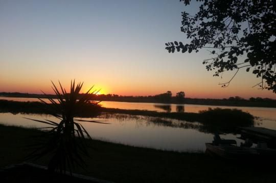 The sunsets at Thamalakane River Lodge are simply amazing (Maun, Botswana)