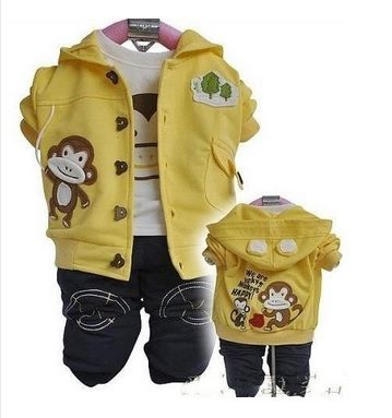 15.- Chaqueta y camiseta de mono + jean / Jacket and shirt with monkey + jean.  Colores / Color: Rojo, Amarillo.  Pedidos / For order: shopping.lts@gmail.com