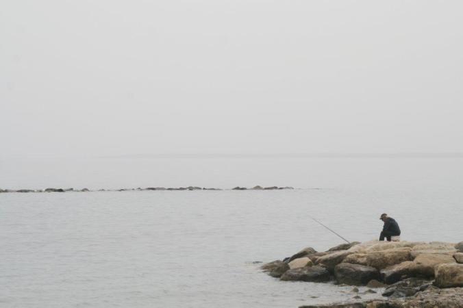 A fisherman in Limassol.