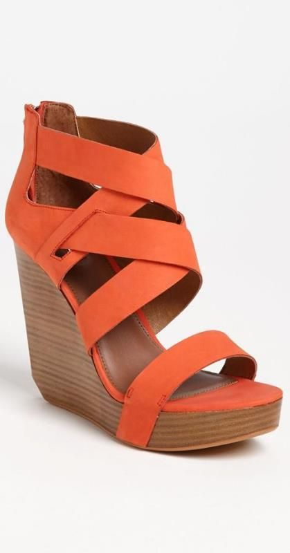 Orange crush ;)  Okay, I could never seriously wear these. I would break my neck.  But, it's a fantasy board after all.