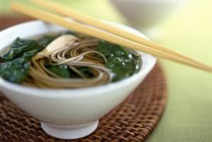 Soba noodles in a dashi broth - Anthony-Masterson/Taxi/Getty Images