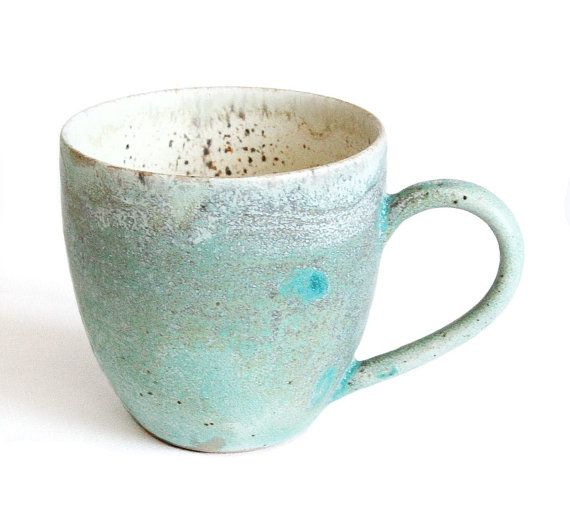 Green and Blue Mug Handmade ceramics by RzucidloCeramics on Etsy