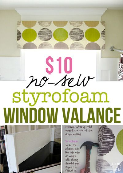 This is the most budget friendly way to decorate your windows. Check this out...a window valance made using a cardboard box. No special tools needed. It is quick and easy to make | In My Own Style