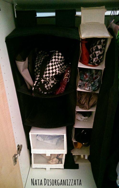 organizzare borse e sciarpe