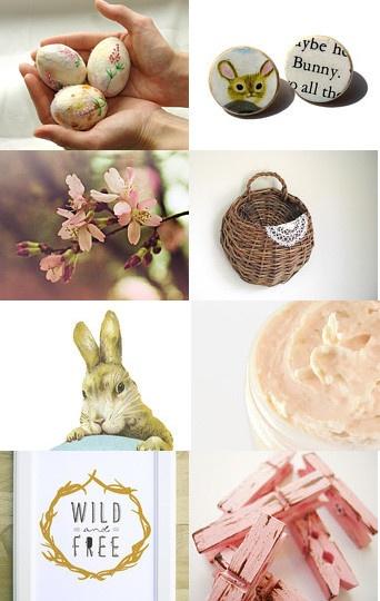 Paasdecoratie in zachte tinten | Meer paasideeën: http://www.jouwwoonidee.nl/trends-pasen-2014/