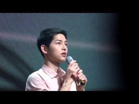 160417 송중기 5th fan meeting 노래-아이처럼 - YouTube