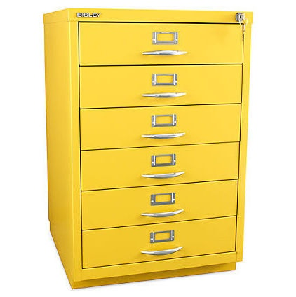 Bisley 6-Drawer Classic Front Filing Cabinet. Brighten up your office and keep your files organized. #contemporary #furniture