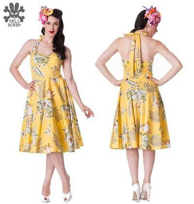 mens pea coat Hell Bunny Alika Tiki Dress Yellow  Yellow white and grey possibili