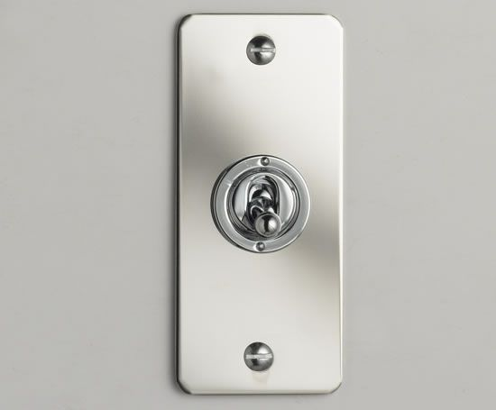 Light switches - Series 2 architrave toggle switch plate