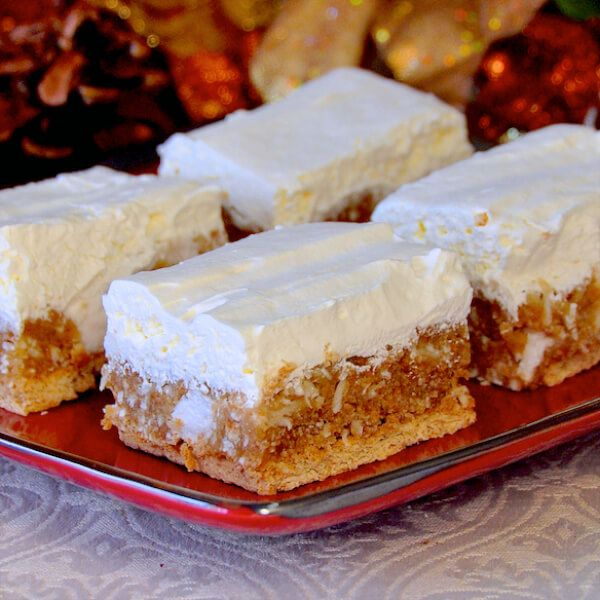 No Bake Winter White Cookies