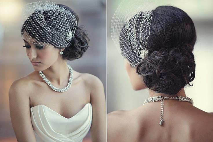 Love the veil and the hair!