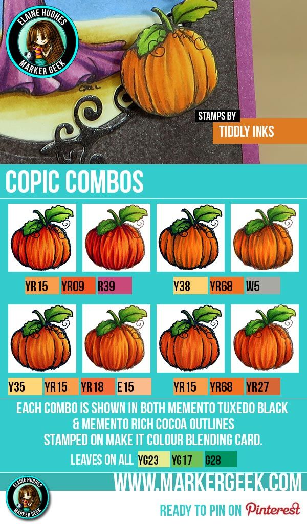 Pumpkins - Copic Marker Combos - www.markergeek.com