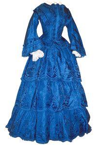 1855 July 10, Jessie Campbell's wedding dress © Cavalcade