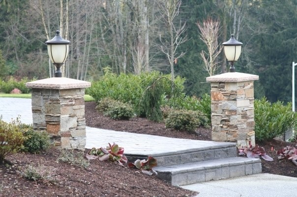 Stone Gate Pillars : The best stone pillars ideas on pinterest front
