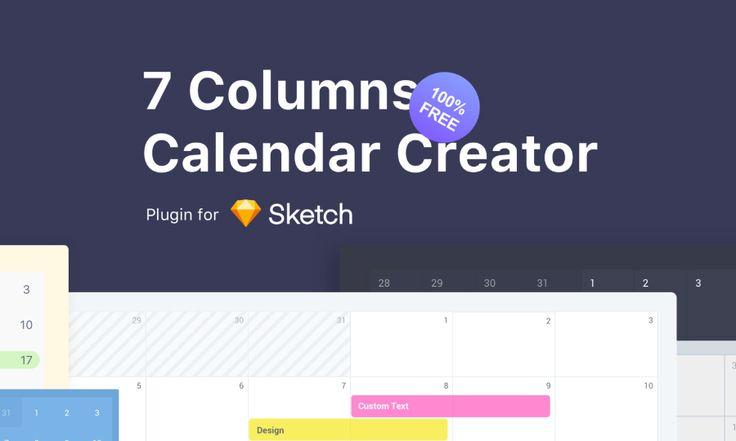 7 Columns Calendar Creator  /Volumes/cifsdata2$/_MOM/Design Freebies/Free Design Resources/Calgen.sketchplugin